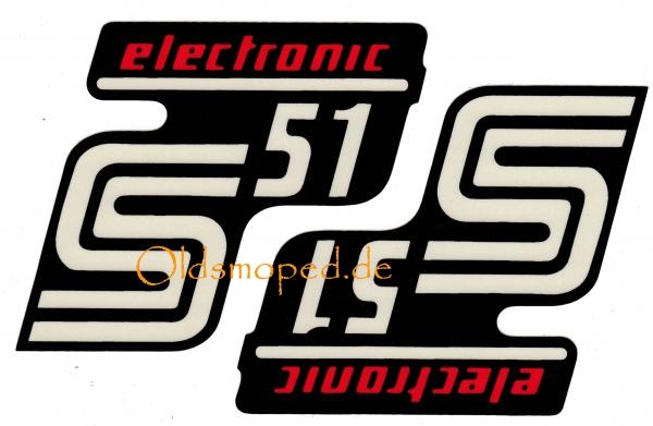 Aufkleber Für Den Seitendeckel S51 Electronic Oldsmopedde